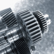 Aerospace gears of finest titanium — Stock Photo #6739965