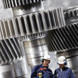 Engineers and nuclear machinery — Stock Photo #6739997