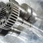Gears, wheels, titanium and steel — Stock Photo