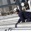 Engineer and pipelines — Stock Photo #6740534