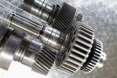Aerospace gears of finest titanium — Stock Photo