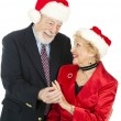 Royalty-Free Stock Photo: Christmas Seniors - Gift of Jewelry