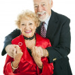 Happy Holiday Senior Couple — Stock Photo