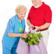 Healthy Seniors Recycle — Stock Photo