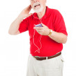 Jamming to the Oldies — Stock Photo
