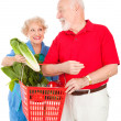 Senior Couple Food Shopping — Stock Photo