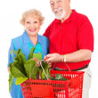 Senior Couple Shops Healthy — Stock Photo