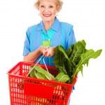 Senior Lady Grocery Shopping — Stock Photo #6511291