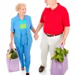 Senior Shoppers - Green Lifestyle — Stock Photo