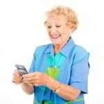 Senior Woman - Texting Fun — Stock Photo #6511361