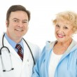 Senior Woman and Her Doctor — Stock Photo #6511376