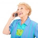 Senior Woman - On Cellphone — Stock Photo #6511377
