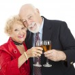 Seniors Toast with Champagne — Stock Photo #6511404