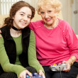 Bonding Over Video Games — Stock Photo