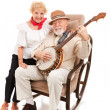 Country Music Seniors — Stock Photo