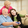 Family Video Game — Stockfoto