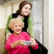 Stock Photo: Gaming With Grandma