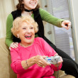 Stock Photo: Grandma Loves Video Games