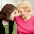 Stock Photo: Grandmother and Teen Love