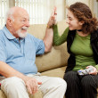 Stock Photo: High Five for Grandpa