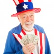 Rich Uncle Sam — Foto Stock