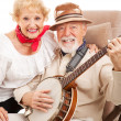 Senior Country Music Couple — Stock Photo