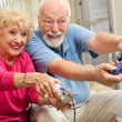 Senior Gamers — Stock Photo