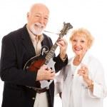 Musical Senior Couple — Stock Photo