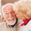 Senior Smooch — Stock Photo