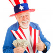 Stock Photo: Uncle Sam - Economic Recovery