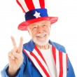 Uncle Sam - Peace Sign - Stock Photo