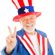 Uncle Sam - Peace Sign — Stock Photo