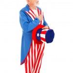 Uncle Sam - Pledge of Allegiance — Stock Photo