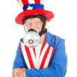 Uncle Sam in Gas Mask — Stock Photo
