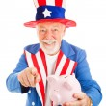 Uncle Sam Wants Your Cash — Stock Photo