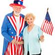 Uncle Sam and Friend — Stock Photo