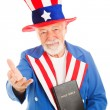 Stock Photo: Uncle Sam With Bible - Welcoming