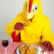 Stock Photo: Chicken M- Cannibalism