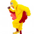 Royalty-Free Stock Photo: Chicken Man Getaway