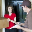Delivering a Package — Stock Photo #6515547