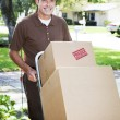 Delivery Man or Mover Outdoors — Stock Photo