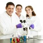 Постер, плакат: Happy Scientists in Lab