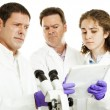 Stock Photo: Scientists - Strange Test Results