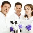 Stock Photo: Team of Scientists Perplexed
