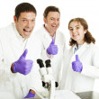 Thumbs Up For Science — Stockfoto