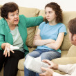 Angry Mother and Daughter Therapy - Stock Photo