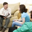 Caring Family Therapist — Stock Photo