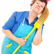 Stock Photo: Cleaning Lady - Daydreaming