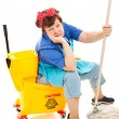 Cleaning Lady - Worn Out — Stock Photo
