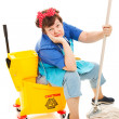 Stock Photo: Cleaning Lady - Worn Out